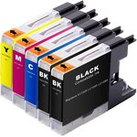 InkAttack ersetzt Brother Tinte LC 1220/LC1240 BK+Y+M+C